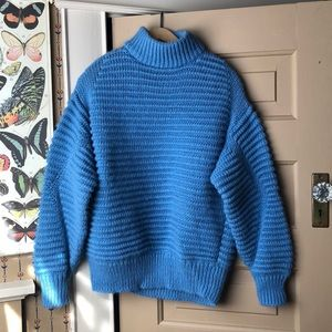 H&M Blue Knitted Sweater XS